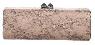 Jimmy Choo Lace-Trimmed Clutch