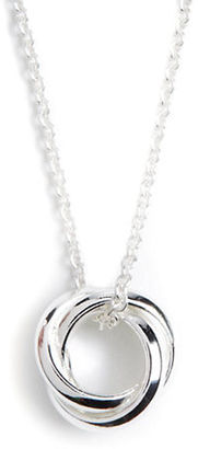 Lord & Taylor Sterling Silver Three-Circle Pendant Necklace $60 thestylecure.com
