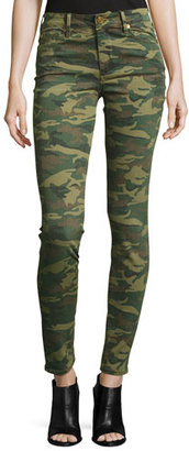 True Religion Halle Mid-Rise Super Skinny Jeans, Green Destroyed Camo $179 thestylecure.com