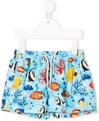 MC2 Saint Barth Kids Jean Coral Bay swim shorts