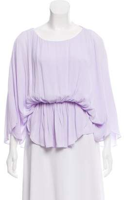 Alice + Olivia Draped Long Sleeve Top