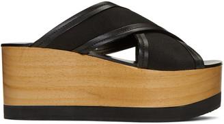Isabel Marant Black Zerry Wedge Sandals $545 thestylecure.com