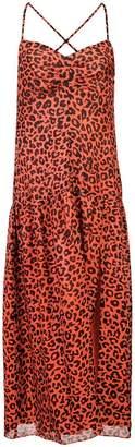 Michelle Mason leopard print midi dress