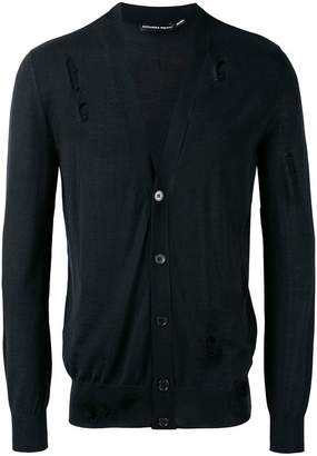 Alexander McQueen distressed V-neck cardigan