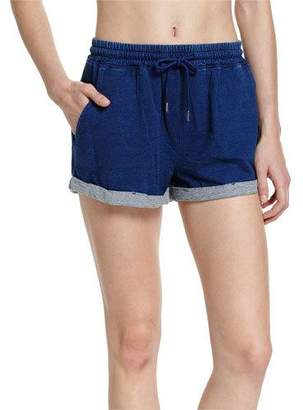 Seafolly French Terry Beach Shorts, Indigo $82 thestylecure.com