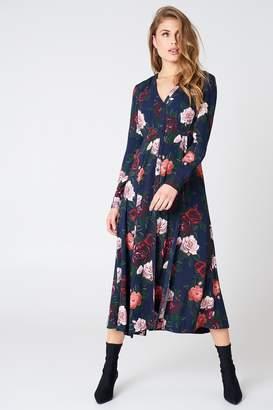 Na Kd Boho Button Up Maxi Dress