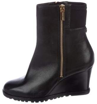 MICHAEL Michael Kors Leather Wedge Ankle Boots