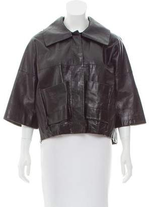 Chloé Leather Cocoon Jacket