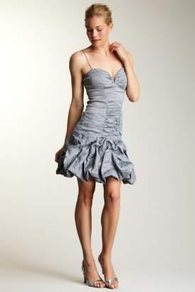 Nicole Miller Metallic Ruffle Dress