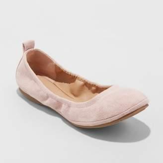 Universal Thread Women's Delaney Microsuede Round Toe Ballet Flats