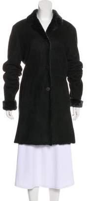 Barneys New York Barney's New York Knee-Length Leather Coat