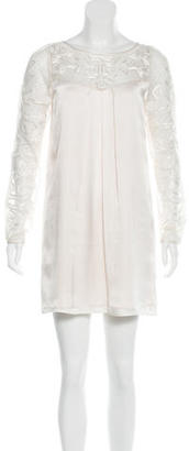 Alice by Temperley Lace-Paneled Long Sleeve Dress $125 thestylecure.com