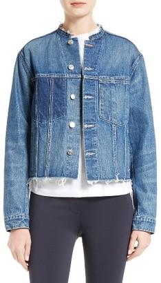 Women's Helmut Lang Ghost Wash Denim Jacket $395 thestylecure.com