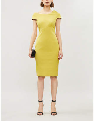 Ted Baker Asymmetric bodycon crepe dress