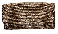 Moyna Bugle Bead Foldover Clutch