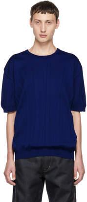 Issey Miyake Blue Wrinkle Knit T-Shirt