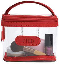 clear Jon Hart Mini Makeup Case