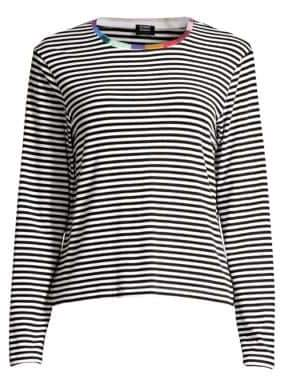 Margherita Splendid x Splendid x Women's Colore Striped Long Sleeve Tee - Banda - Size Large