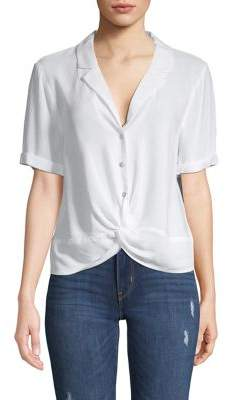 BCBGeneration Twist Front Buttoned Shirt