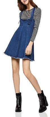 BCBGeneration Frayed Edge Denim Overall Dress
