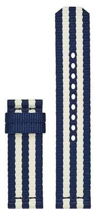 Tory Burch The Gigi Striped Grosgrain Smartwatch Strap, 20mm