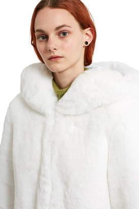 Lemönplet By Choyo Hooded Faux Fur Coat