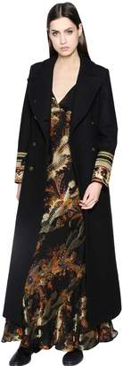 Etro Wool Coat With Embellished Cuffs