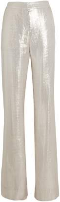 Derek Lam 10 Crosby Lame Wide-Leg Pants