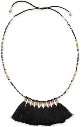"INC International Concepts I.n.c. Gold-Tone Bead & Tassel 20"" Slider Necklace, Created for Macy's"