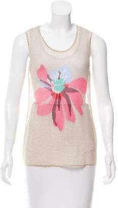 Missoni Floral Open-Knit Top w/ Tags