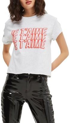 Women's Topshop Je T'Aime Graphic Crop Tee $30 thestylecure.com