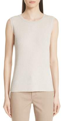 Lafayette 148 New York Ribbed Cashmere Tank Top
