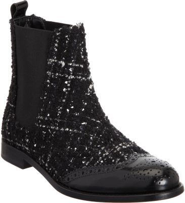 Dolce & Gabbana Boucle Brogue Chelsea Boot