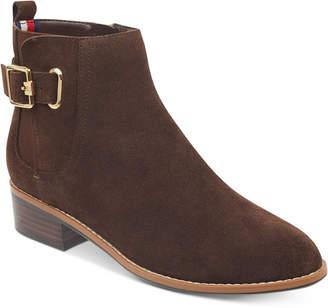 Tommy Hilfiger Women's Terez Block-Heel Zip Booties Women's Shoes