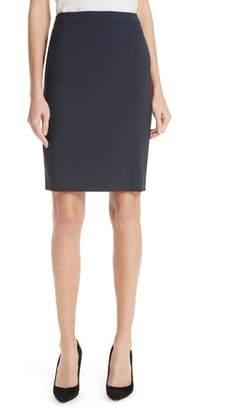 BOSS Vilea Tropical Stretch Wool Pencil Skirt