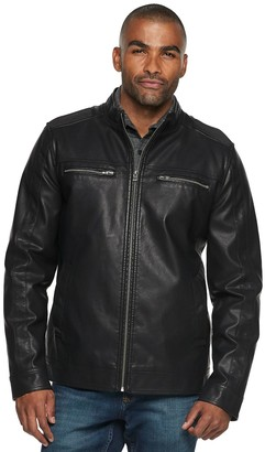 X-Ray Xray Men's XRAY Faux-Leather Jacket