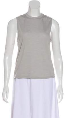 Outdoor Voices Sleeveless Scoop Neck Top Grey Sleeveless Scoop Neck Top
