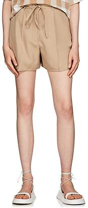 Jil Sander Women's Wool High-Waisted Shorts - Beige, Tan