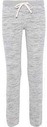 Monrow Mélange Ribbed-Knit Track Pants