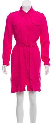 Calypso Linen Long Sleeve Shirtdress w/ Tags