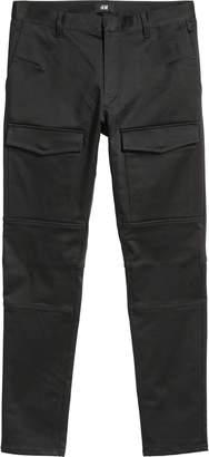 Satin biker trousers