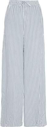 Onia Chloe Striped Gauze Wide-leg Pants