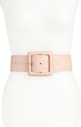 Halogen x Atlantic-Pacific Croc Embossed Stretch Belt