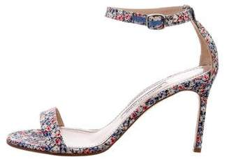Manolo Blahnik Floral Chaos Sandals