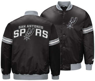 G-iii Sports Men San Antonio Spurs Draft Pick Starter Satin Jacket