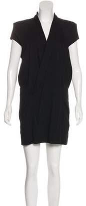 Theyskens' Theory Short Sleeve Midi Dress