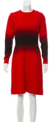 Jonathan Saunders Ombré Print Wool Dress