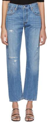 Levi's Levis Blue 501 Straight Jeans