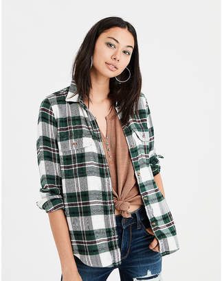 American Eagle AE Ahhmazingly Soft Flannel Shirt Jacket