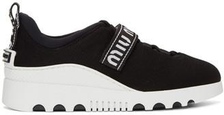 Miu Miu Black Maglia Knit Sneakers